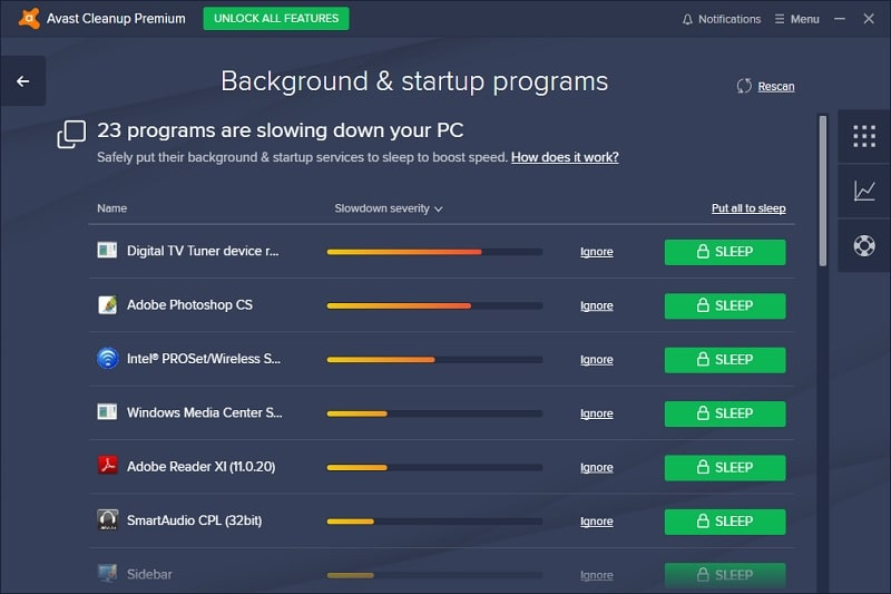 Avast Cleanup Premium Speed up PC Suggestions